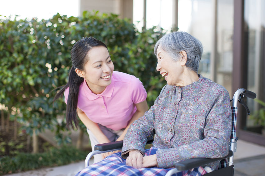 42818698 - grandma took care and wheelchairs